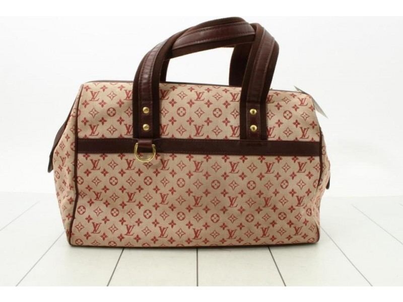 Louis Vuitton Bordeaux Monogram Mini Lin Josephine GM Boston Bag  861329