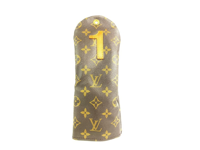 Louis Vuitton Monogram Golf Club Cover Etui Case Pouch No. 1 Number one 4L101