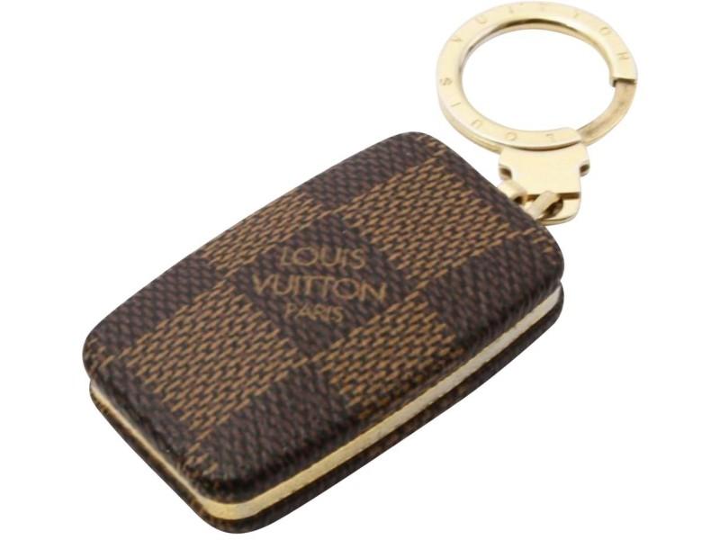 Louis Vuitton Damier Ebene AstroPill Key Holder Light KeyChain 861080