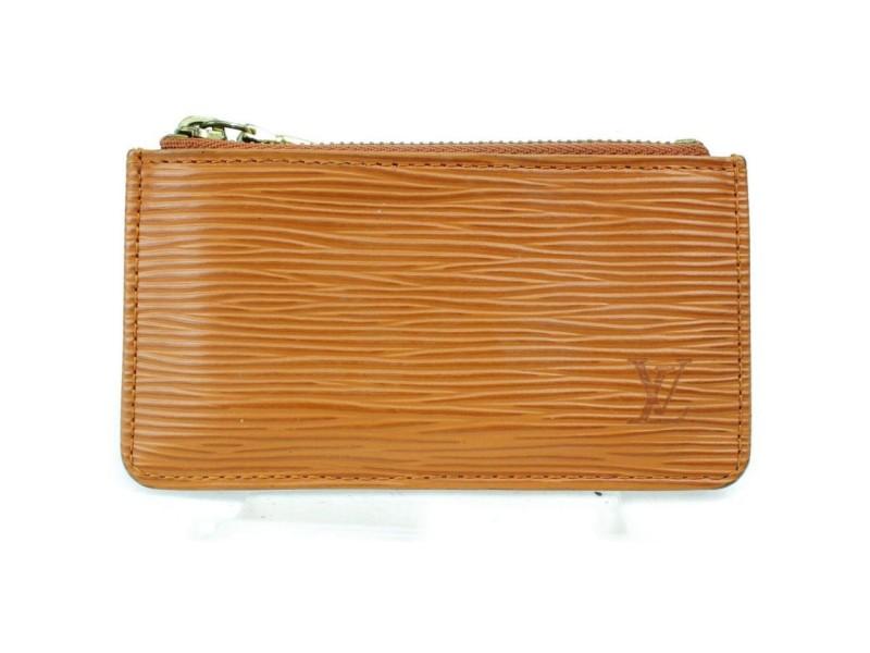 Louis Vuitton Brown Epi Pochette Cles Coin Purse Key Pouch M63803 872851