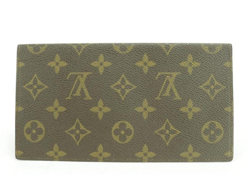 Louis Vuitton Check Book Long Wallet Card Organizer Bifold 19RLLK0128