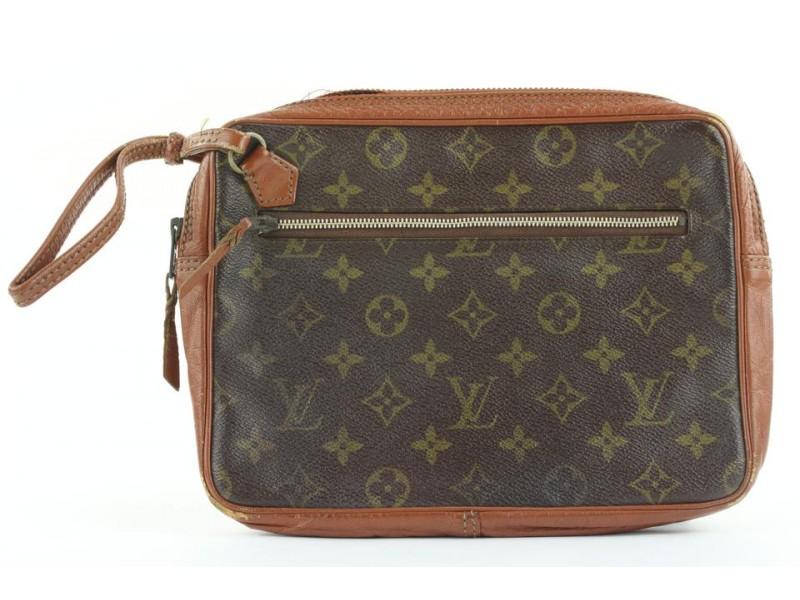Louis Vuitton Monogram Pochette Marly Dragonne Wristlet Pouch 199lvs29