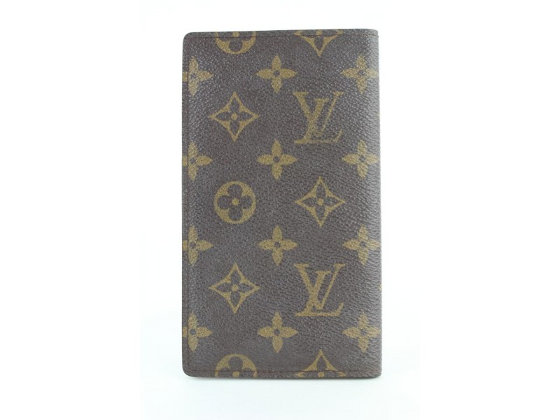 Louis Vuitton Monogram Checkbook Bifold Wallet 904lvs413