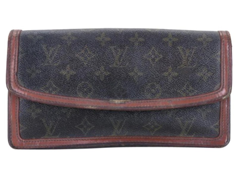 Louis Vuitton Brown Monogram Dame Pm 223189 Wallet