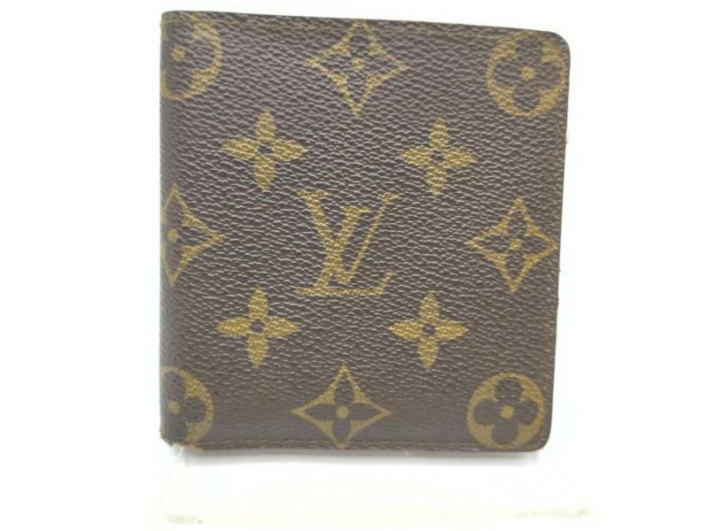 Louis Vuitton Monogram Porte Billets 6 Cartes Credit Men's Wallet Slender 861494