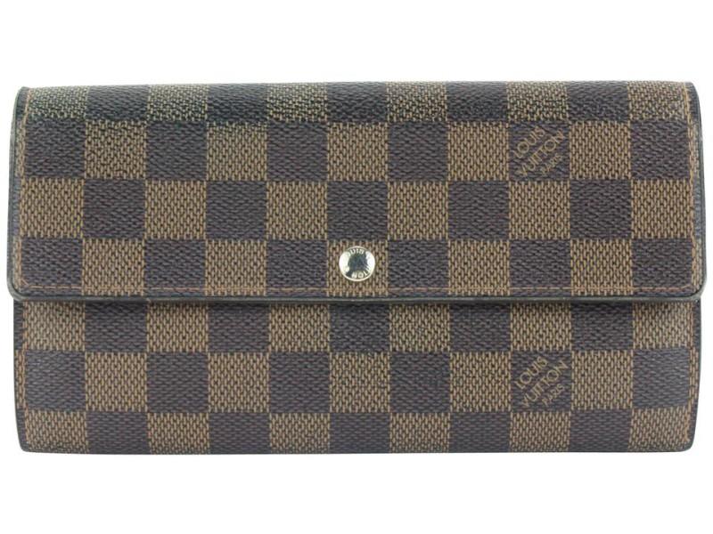 Louis Vuitton Damier Ebene Sarah Wallet Long Porte Tresor 317lvs517