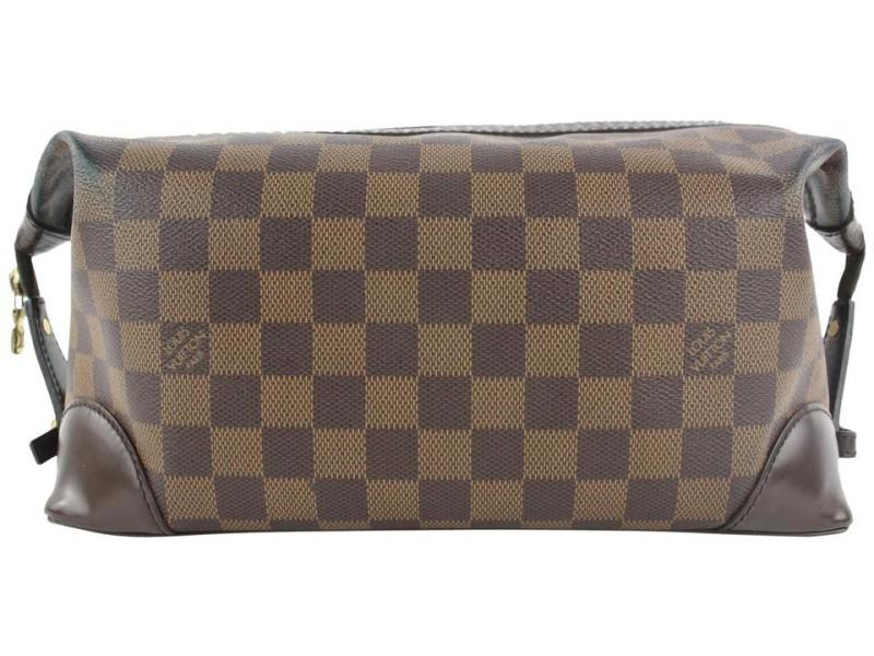 Louis Vuitton Damier Ebene Trousse Vaslav Toiletry Pouch Dopp Kit 870lvs49