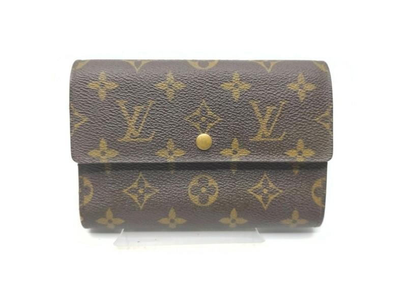Louis Vuitton Monogram Porte Tresor Etui Papiers Trifold Wallet 862583