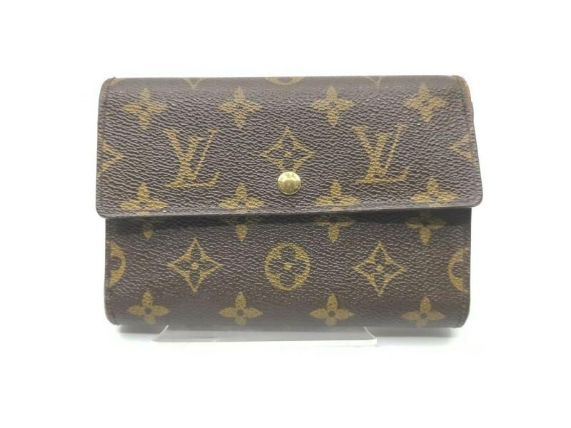 Louis Vuitton Monogram  Porte Tresor Etui Papier Wallet Trifold Purse 861450