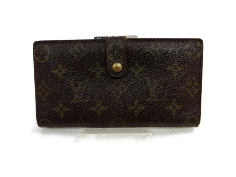 Louis Vuitton Long Monogram Porte Viennois French Twist Kisslock Wallet g862578