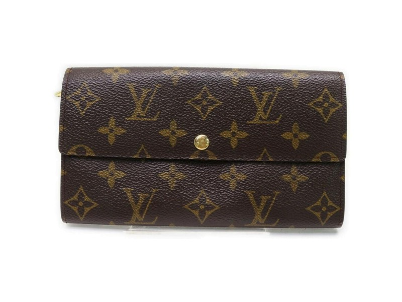 Louis Vuitton Monogram Sarah Wallet Long Wallet Pochette Porte Monnaie Credit 862356