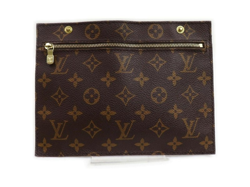 Louis Vuitton Monogram Randonnee Pouch Toiletry Pouch GM Make Up Zip Case 861685