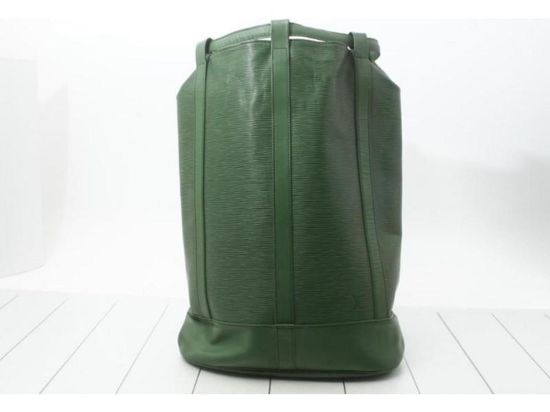 Louis Vuitton Green Epi Leather Borneo Randonnee GM Drawstring Bucket 860908