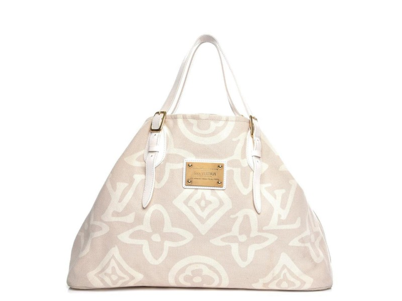 Louis Vuitton Cabas Tahitienne GM Beiges Limited Rare Cruis Summer 860093
