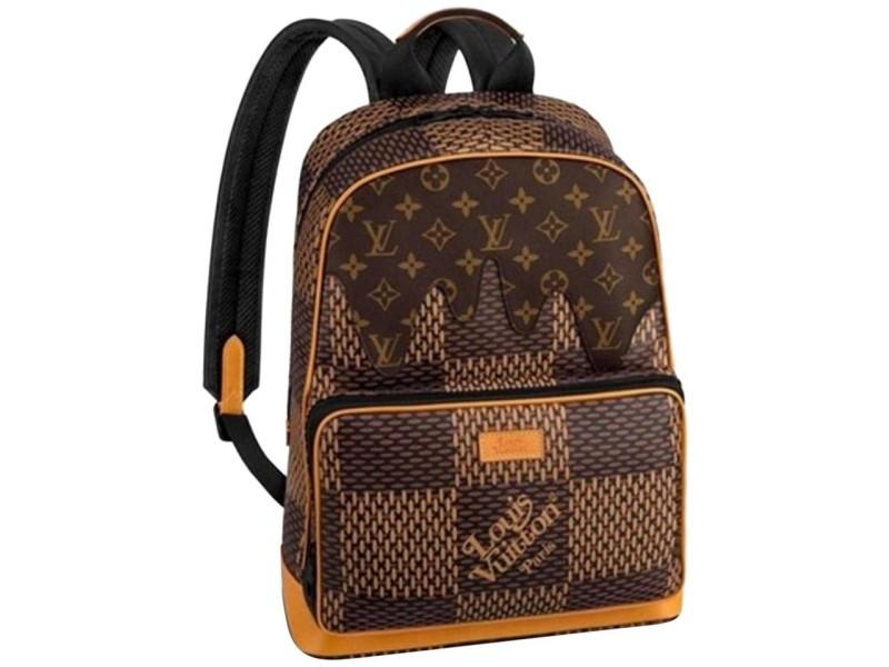Louis Vuitton Damier Ebene Nigo Campus Backpack Rare Runway Drip Melt 860471