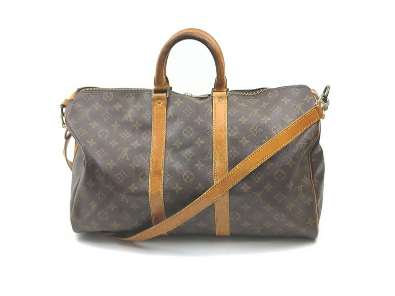 Louis Vuitton Monogram Keepall Bandouliere 45 Duffle Bag with Strap 862204
