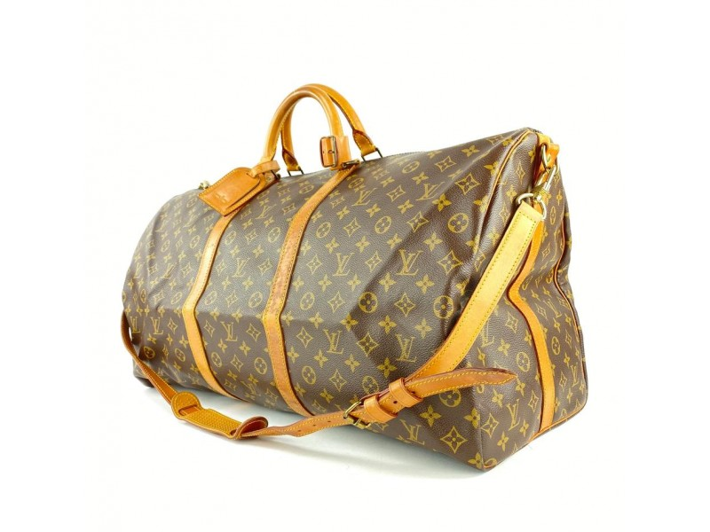 Louis Vuitton Monogram Keepall Bandouliere 60 Duffle Bag with Strap 3LVL1127