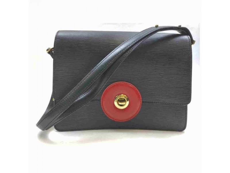 Louis Vuitton Black Epi Noir Friedland Flap Red 860464