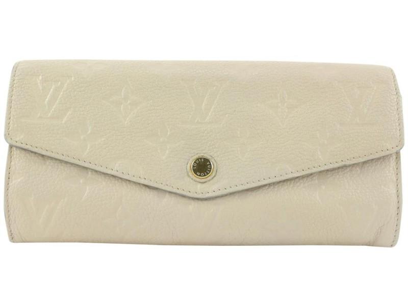 Louis Vuitton Ivory Empreinte Sarah Curieuse Long Flap Wallet 88lvs427