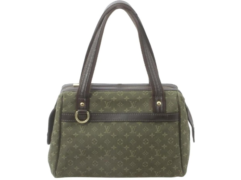 Louis Vuitton Khaki Green Monogram Mini Lin Josephine PM Boston Speedy Bag 861933
