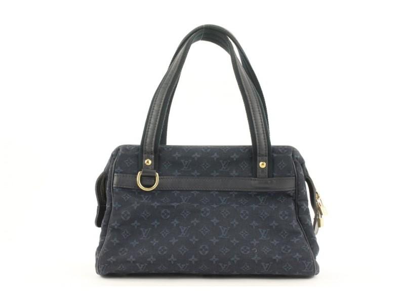 Louis Vuitton Navy Blue Monogram Josephine PM Boston Speedy Bag 184lvs28