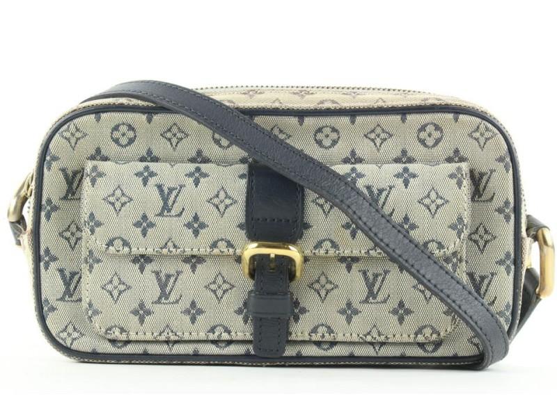 Louis Vuitton Navy Monogram Mini Lin Juliette MM Crossbody Bag 180lvs28