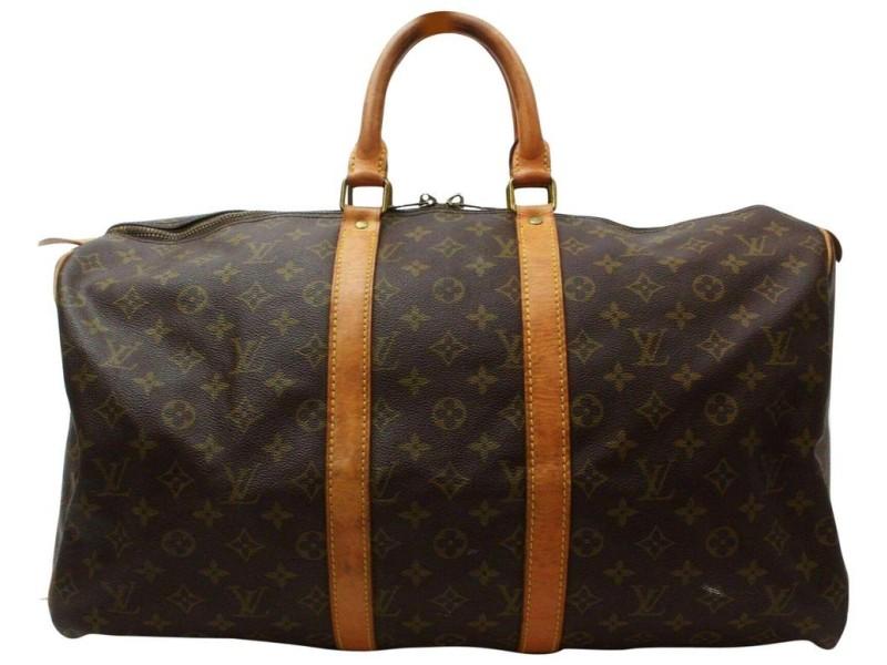Louis Vuitton Monogram Keepall 50 Boston Duffle MM 859682