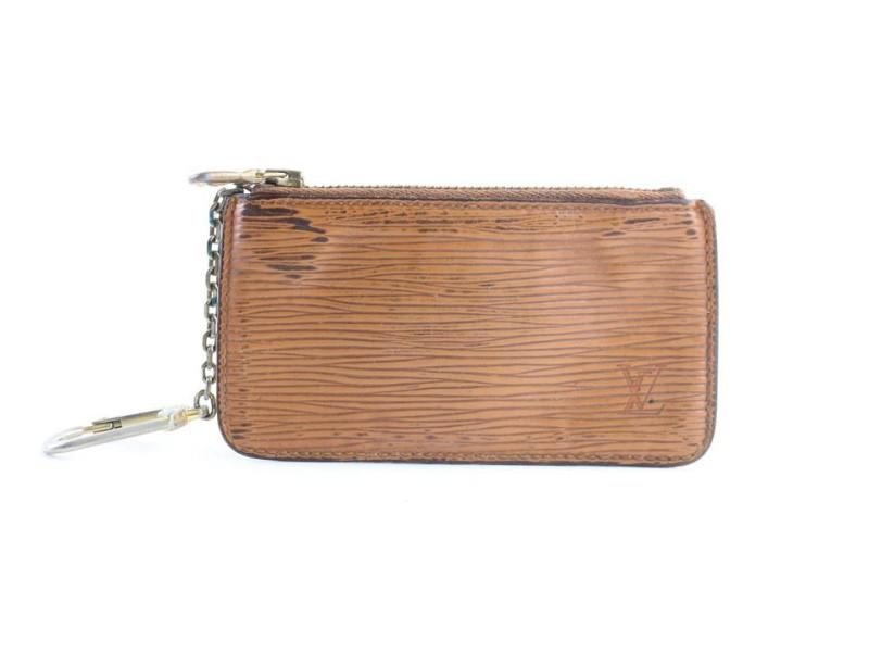 Louis Vuitton Key Cles 1lr0628 Brown Epi Leather Clutch