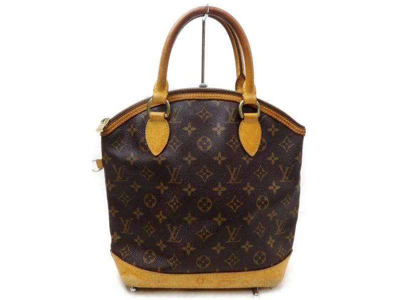 Louis Vuitton Lockit Brown Coated Canvas Satchel 857182