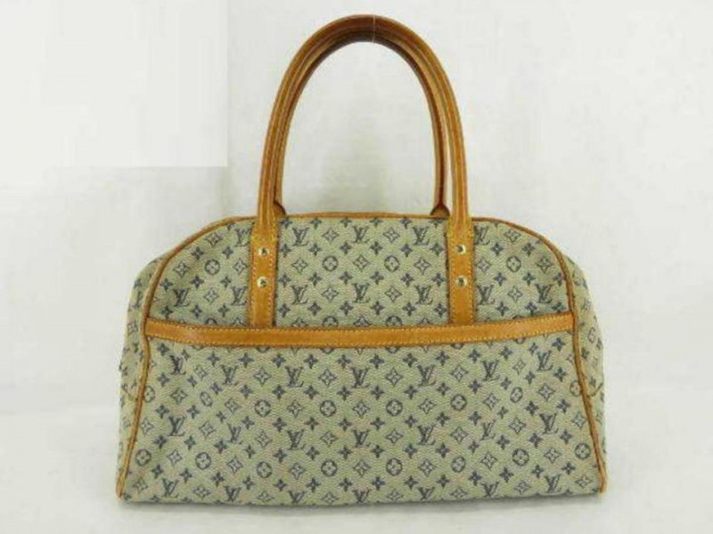 Louis Vuitton Marie Mini Lin Boston Blue Grey 233976