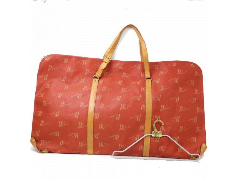 Louis Vuitton Monogram Lv Cup Kabul Cabourg 870823 Red Coated Canvas Weekend/Travel Bag