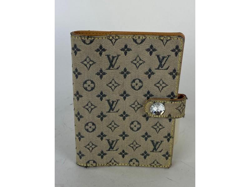Louis Vuitton Monogram Mini Lin Agenda Blue Navy 10lv62