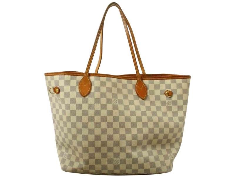 Louis Vuitton Damier Azur Neverfull MM Tote Bag  861351