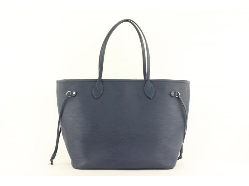 Louis Vuitton Navy Blue Epi Leather Neverfull MM Tote Bag 280lvs512