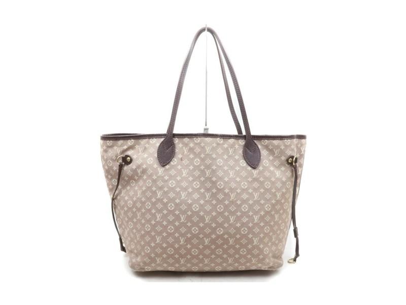 Louis Vuitton Sepia Monogram Mini Lin Idylle Bordeaux Neverfull MM Tote Bag 863262
