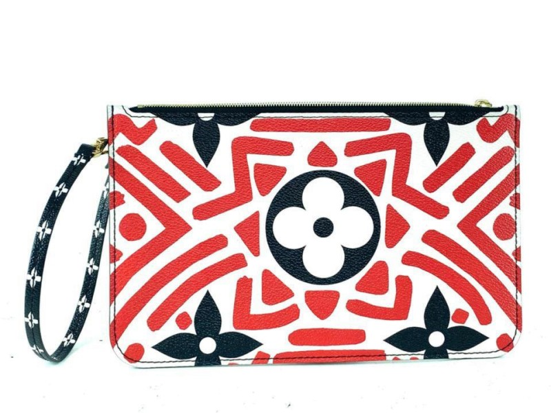 Louis Vuitton Crafty Red Neverfull Pochette GM or MM tribal Limited African 860307