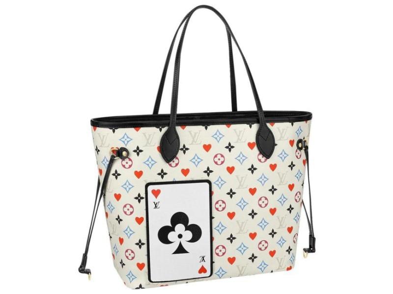Louis Vuitton Poker White Multicolor Game On Monogram Neverfull MM 11117lv22