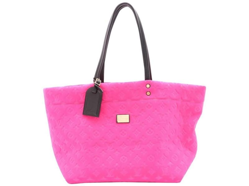 Louis Vuitton Large Pink Neopene Monogram Scuba Neverfull MM tote  862409