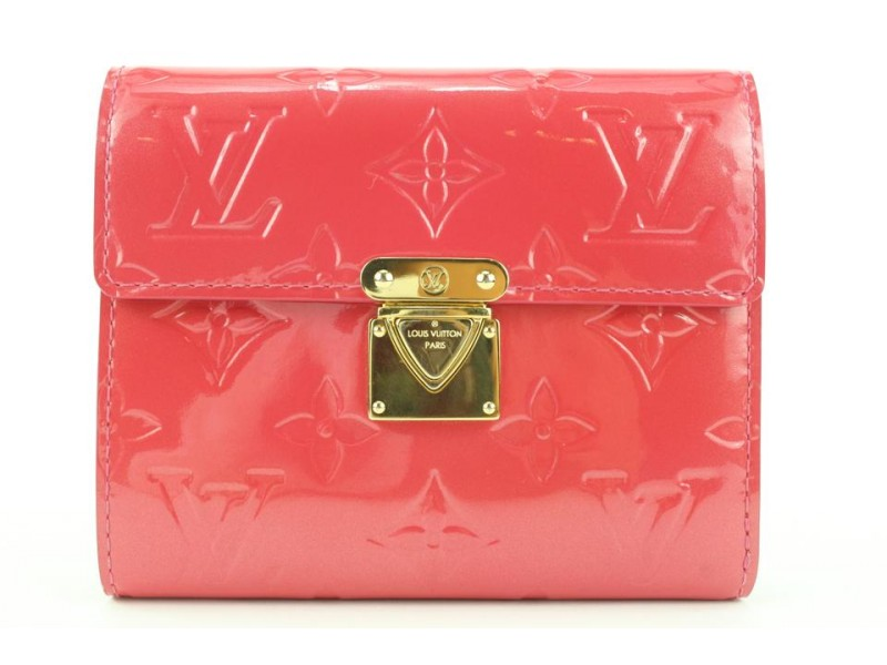 Louis Vuitton Pink Framboise Vernis Koala Compact Wallet 605lvs316