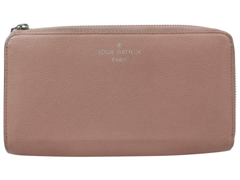 Louis Vuitton Pink Zippy Around Leather Comete V 870982 Wallet