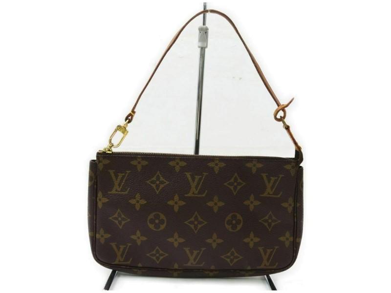 Louis Vuitton  Monogram Pochette Accessoires Wristlet Pouch 857844