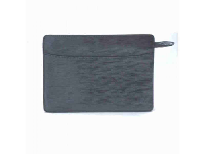Louis Vuitton Black Epi Noir Pochette Homme Clutch 860193