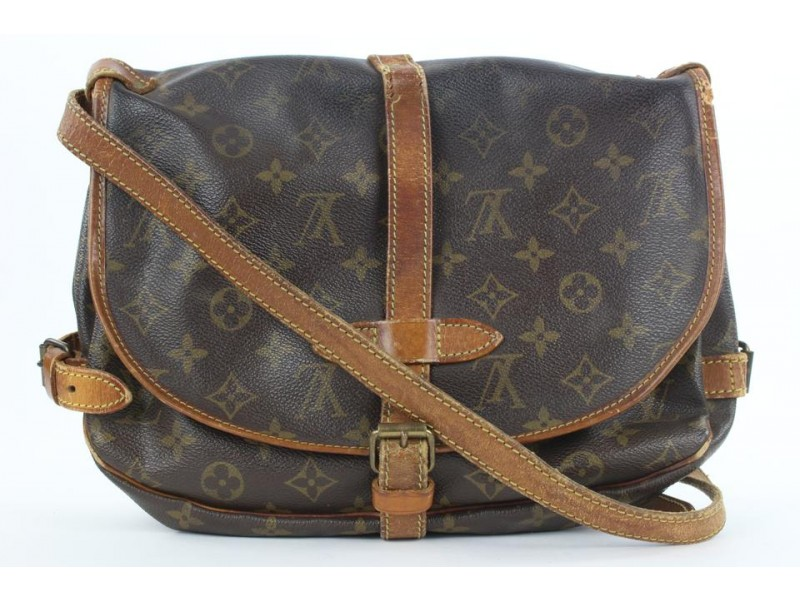 Louis Vuitton Monogram Saumur 30 Crossbody Bag 8lvs112