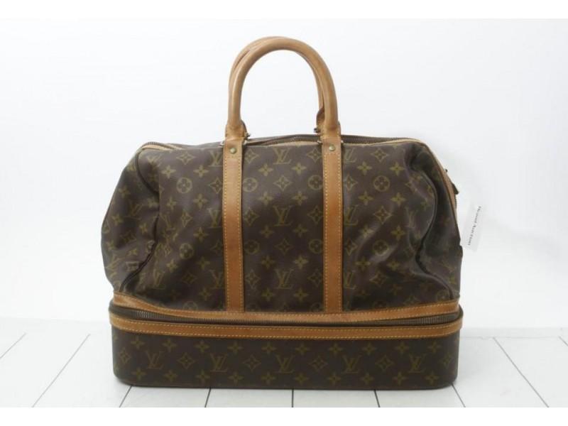 Louis Vuitton Monogram Sac Sport Boston Duffle Carry-On Luggage  861106