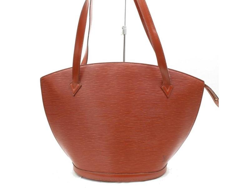 Louis Vuitton Saint Jacques Zip Tote 868398 Brown Leather Shoulder Bag
