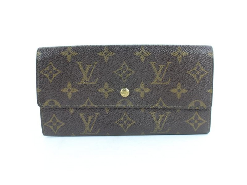 Louis Vuitton Monogram Porte Tresor Long Sarah Wallet 859869