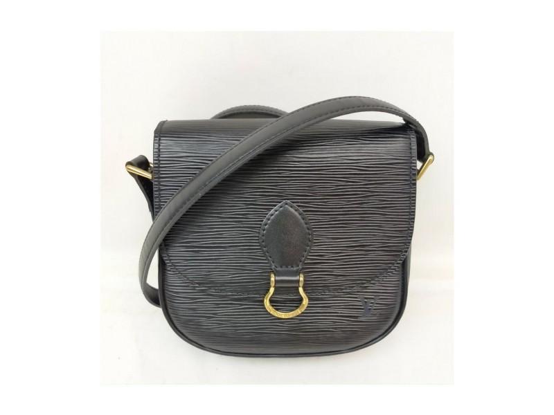 Louis Vuitton Black Epi Leather Noir Mini Saint Cloud Crossbody Bag 863270