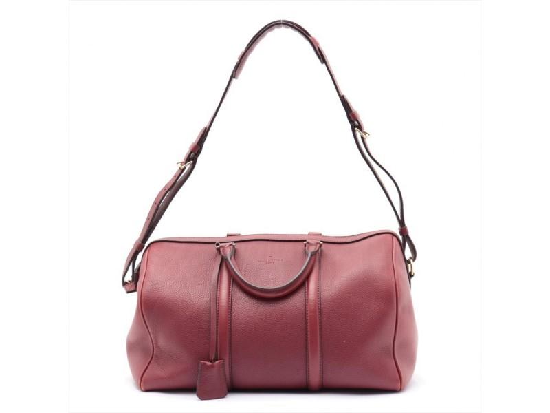 Louis Vuitton Dark Red Jasper Calf Leather Sofia Coppola SC Bag GM Speedy 861632