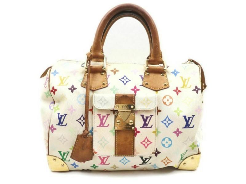 Louis Vuitton Game On White Monogram Multicolor Speedy 30 859540