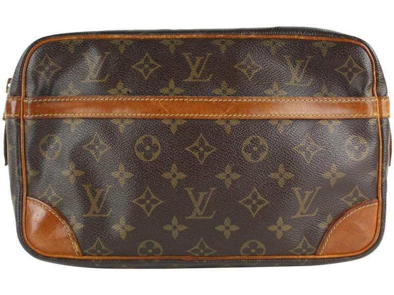 Louis Vuitton Monogram Compiegne Toiletry Pouch Cosmetic Trousse Clutch 11LVS129